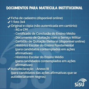 documentos matrícula na uespi