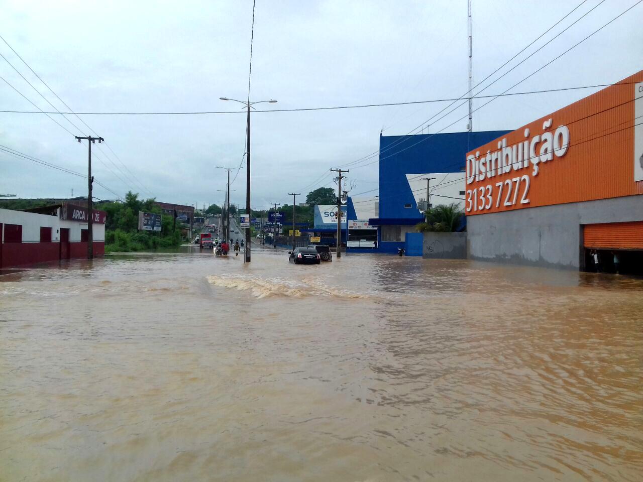 forte chuva em Teresina risco de desastres