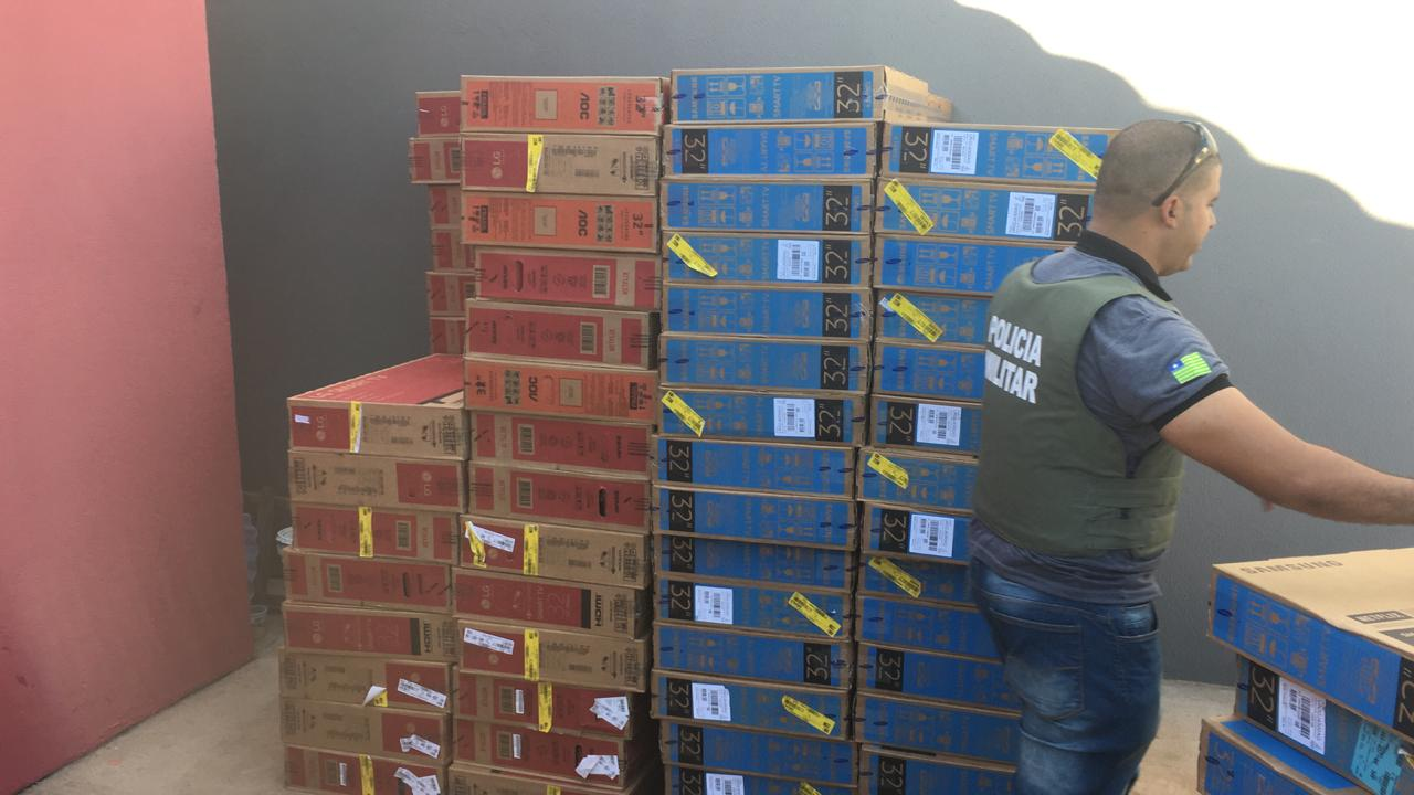 tvs roubadas de depósito da casas bahia em teresina