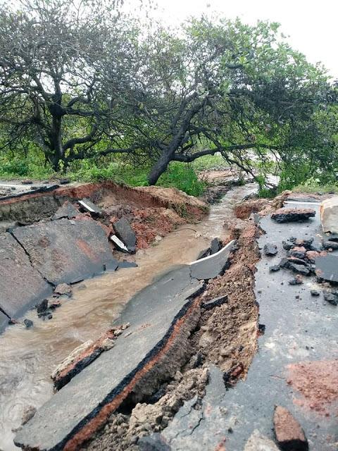 comunidade de Ilha Grande isolada - estrada rompe