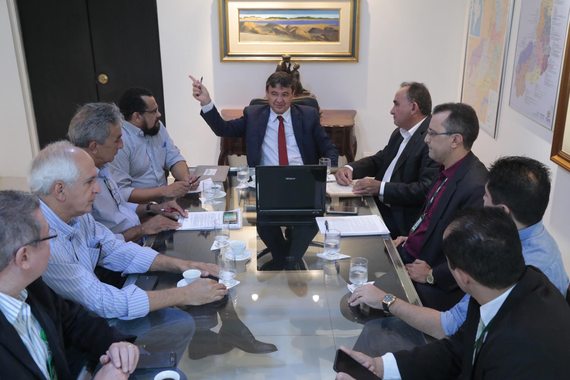 Reunião no Karnak para discutir foco de peste suína no Piauí