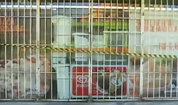 bandidos roubam caixa eletrônico de padaria