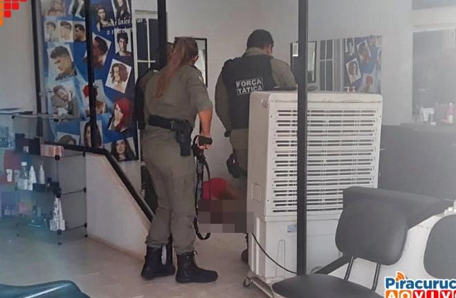 mulher assassinada em salão de beleza Piracuruca