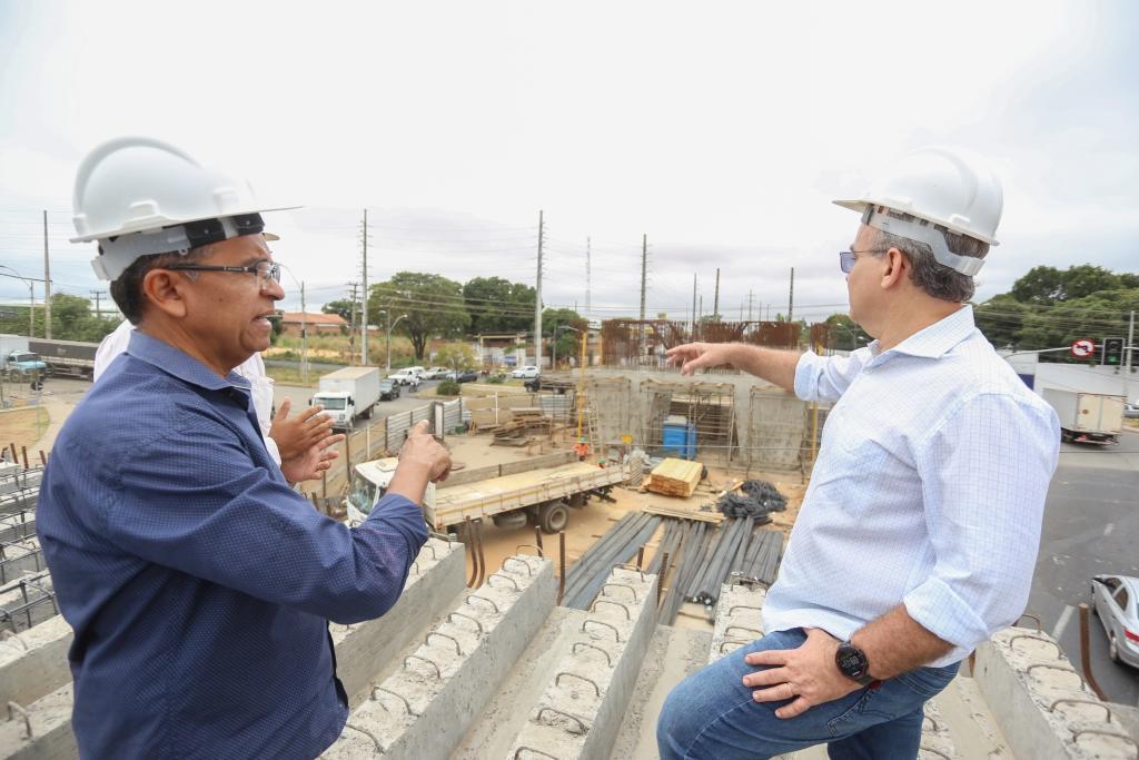 construção viaduto da Barão - Teresina