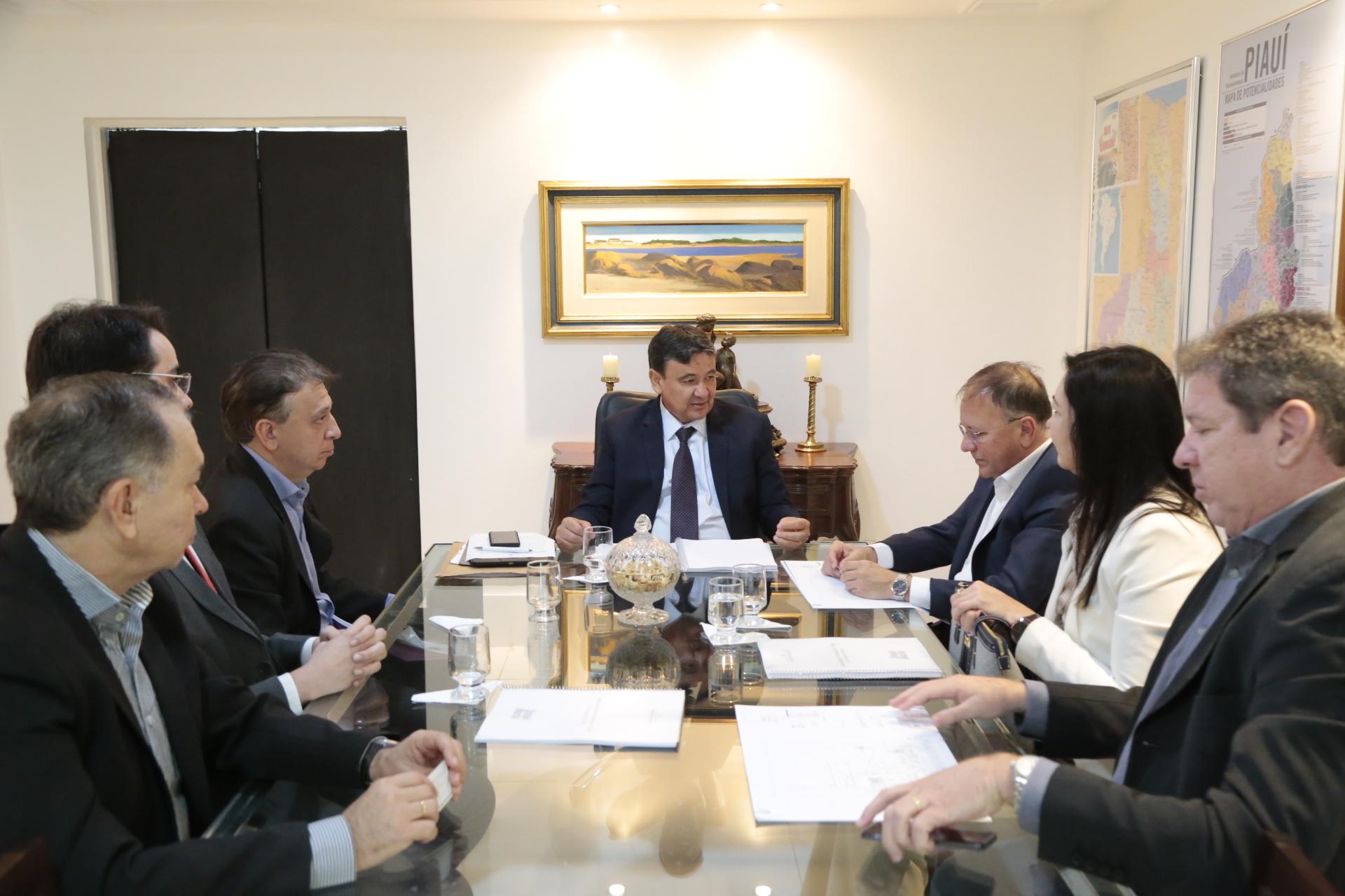 Governador recebe representantes de indústria de trigo que implantará base no Piauí